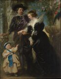 "Peter Paul Rubens  ​​​​​​​""Rubens with Hélène Fourment and their son Peter Paul"""