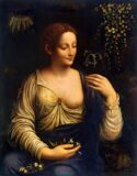 "Portrait of Leonardo da Vinci's Mother №2 ""Kolombina"" Artist Francesco Melzi"