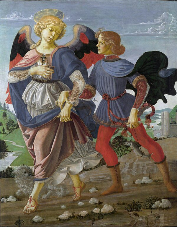 """Tobias and the Angel"" Andrea del Verrocchio. Tobias - Leonardo da Vinci"