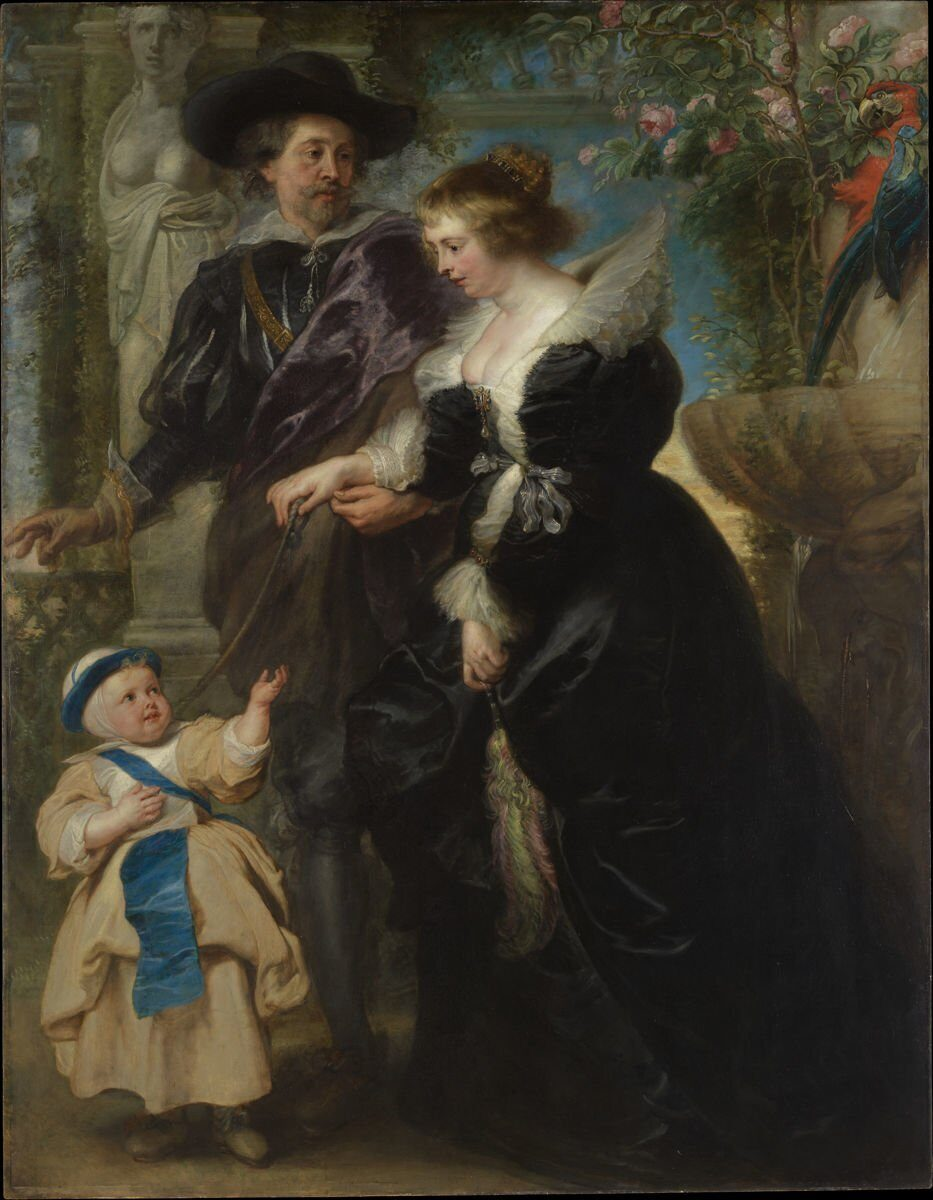 "Peter Paul Rubens ""Rubens with Hélène Fourment and their son Peter Paul"""