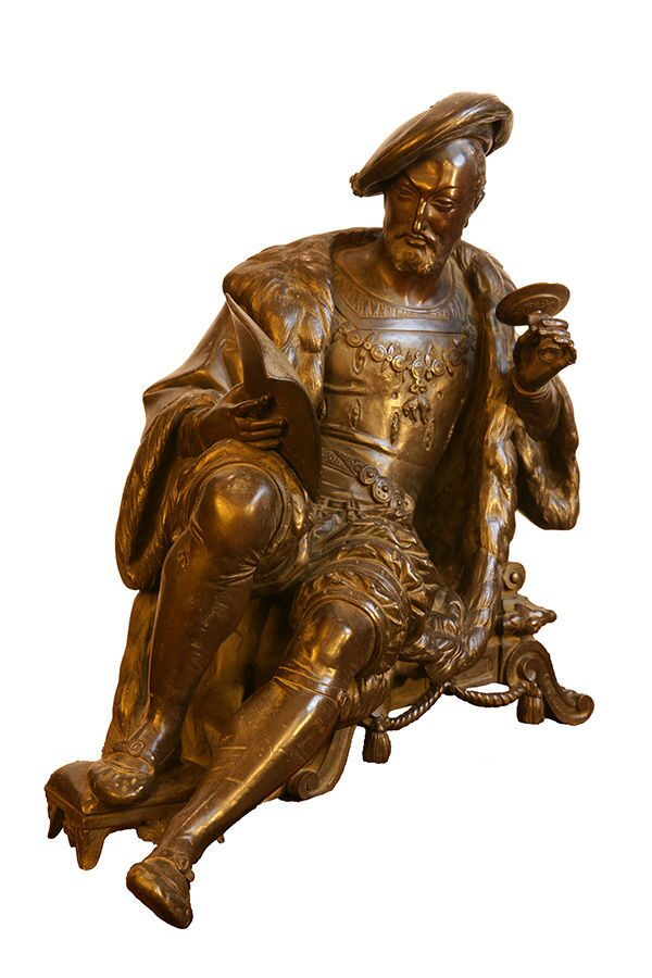 """Leonardo da Vinci"" Sculptor Albert-Ernest Carrier-Belleuse (1824-1887)"