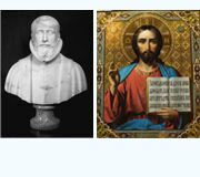 "Comparison of ""Leonardo da Vinci"" bust created by Leonardo da Vinci and icon № 1 with Jesus Christ's image"