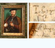Research of a hand-written text in a painting of Leonardo da Vinci