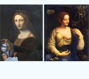 "Comparison of Leonardo da Vinci's painting ""Magdalena"" and Francesco Melzi's painting ""Colombina"""