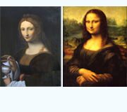 "Comparison of Leonardo da Vinci's works ""Mother's portrait"" and ""Mona Lisa"""